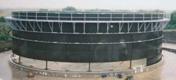 Reservatório em aço vitrificado para efluente